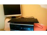 pc windows 10 monitor keyboard mouse 64 bit HDD 250GB