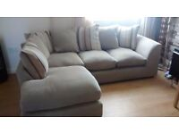 Can deliver modern cream Dfs corner sofa in very good condition