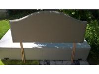 Ex-display Myers Light Grey Queen Size Upholstered Headboard.