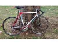 Carrera italian racing bike,campagnolo parts.chrome dropouts. Good condition