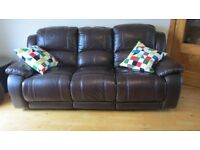 LEATHER SOFAS BROWN