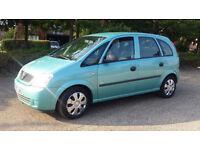 Vauxhall MERIVA Life 1.6 8v Long MOT 9 months Good Tyres Cheap to run all around