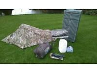 Camping gear job lot family tent stove furniture