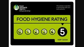 5 star rated catering/takeaway recently refurbished