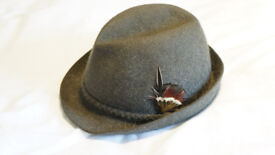 """Dunn & Co LTD Hat Makers """"Robin Hood"""" Vintage Trillby Type Hat Small"""