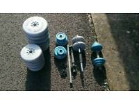 Selection of weights and bar bell