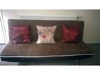 Sofa (futon) dark brown retro