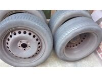 """Four 16"""" Ford mondeo 2002 wheels with tyres."""