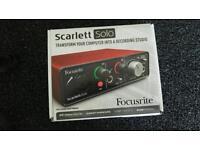 Focusrite scarlett solo one
