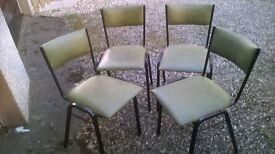 Set of 4 stacking kitchen/dining chairs
