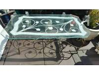 Free heavy iron and glass coffee table