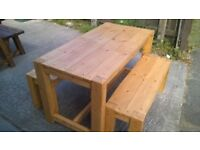 SOLID,HAND MADE BEDS,TV UNIT,DRESSERS,DINING/COFFEE TABLES,CHAIRS,PATIO/GARDEN BENCHES FROM £49
