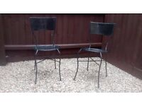 Wrought Iron Garden Chairs (Pair) - Collect from Newmarket (Near Cambridge) CB8 7AT