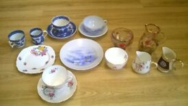 cups plates,milk jugs,cream jugs sets