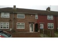 Well presented newly redecorated three bedroom unfurnished mid terrace off Carr lane in Norris Green