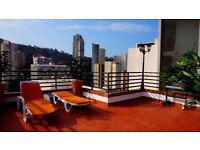 BENIDORM Penthouse for rent with large private terrace 60m2 and BBQ
