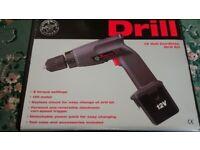 Hand Drill - 12 Volt Cordless Drill Kit