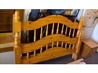 Solid pine double bed 4.6ft