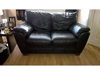 Leather Sofa's 3 seater and 2 seater