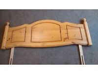 Solid pine headboard for double bed