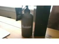 Boxed Rare Quality Glenfiddich Graphite Expedition Water Bottle Flask &Belt Clip