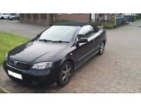 2004 black vauxhall astra 1.8 convertible+mot+electric roof works+needs attention but DRIVES WELL