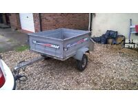 Erde 122 tipping trailer 4ft x 3ft aprox
