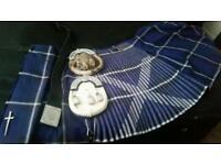 Saltire kilt, 2 sporrans and a belt