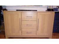 Sideboard 2 Door 3 Drawer Oak Effect