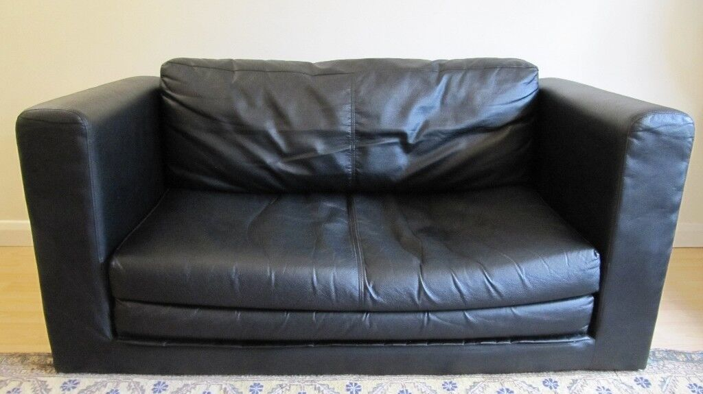 2 seat double ikea leather sofa bed in redland bristol gumtree. Black Bedroom Furniture Sets. Home Design Ideas