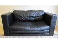 2 Seat Double IKEA Leather Sofa Bed