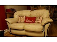 2 seater leather sofa's X2