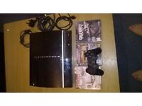 ps3 with 3 games and controller