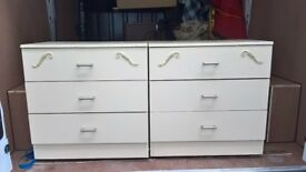 2 French style bedside drawers