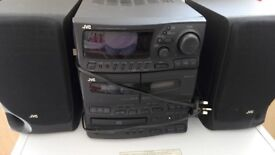 JVC Stereo system with remote control- for parts or repair