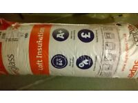 2 new rolls of loft insulation