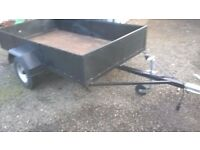 CAR TRAILER FULLY REFURBISHED 7 FT X 4 FT FOLD DOWN BACK DOOR