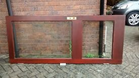 Hardwood back door