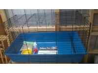 Small rabbit for sale with new cage and attachments