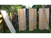 Wicks Solid Pine Doors x 12 - £120 for all - or £15 each (solid) / £20 each (glazed)