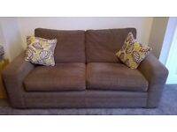 3 Seater Sofa - NEXT - Brown