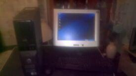 Dell Dimension 3100c Computer and Printer
