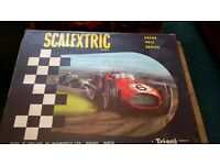 Scalextric set and extra track 1960's vintage
