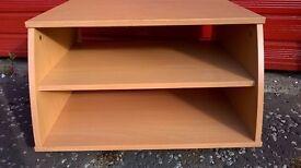 TV / Aquarium Unit Light Wood effect Sturdy with 3 Shelves and Matching Corner Unit with 3 Shelves