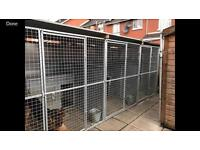 Dog run and kennels.
