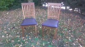2 solid wood dining chairs by NEXT furnishings