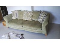 Lovely 4 seater sofa and feature chair, damask print