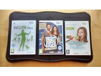 Exercise Board and games bundle fitness for Nintendo Wii
