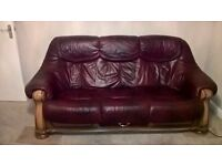 FREE SOFA - Need this to be collected asap - Leather Sofa