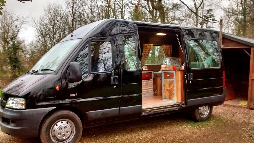 newly converted peugeot boxer campervan motorhome in. Black Bedroom Furniture Sets. Home Design Ideas